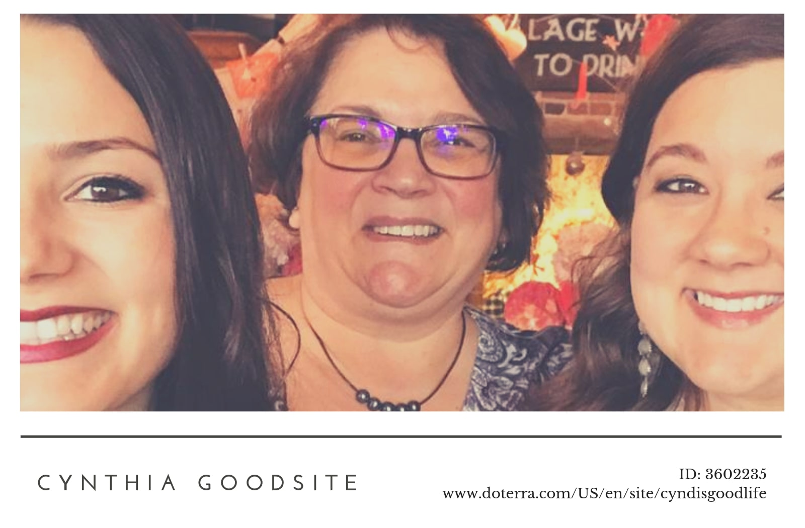 Doterra independent product consultant Cyndi Goodsite
